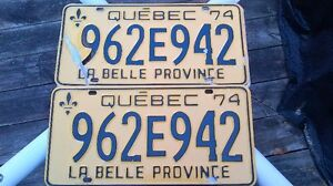 1974 Quebec License Plate