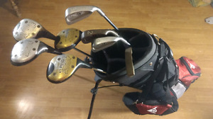 Clubs and bag