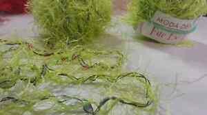2 balls yarn - neon green Moda Dea Fur Ever