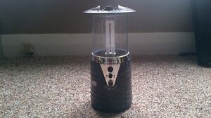 Light on LED camping lantern with build in speakers & aux cord