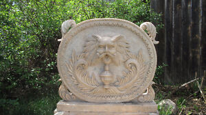 Beautiful Large Hand Carved Italian White Marble Wall Fountain Edmonton Edmonton Area image 3