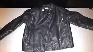 Small girl's Feux Leather jacket