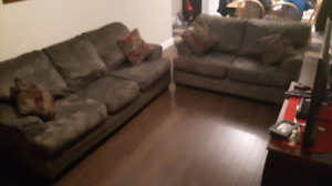 Micro Fiber Couch and Love Seat for sale