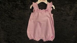 Baby Girl Juicy Couture Romper Pastel Mauve Size 6-9 Mths