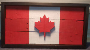 Handmade Pallet Wood Canadian Flag