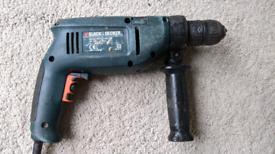 Drill - black and decker hammer drill 650w