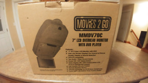 """Audiovox 7"""" overhead monitor with built-in DVD player"""