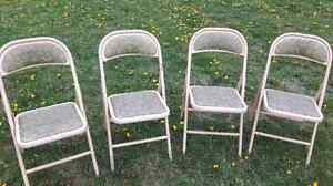 4 solid folding chairs