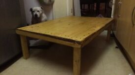 Rustic hand made table