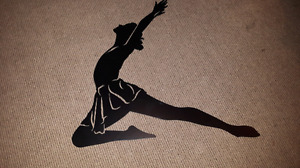 Large dancer metal decor