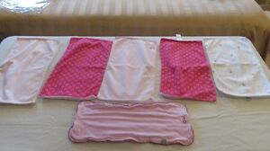 6 Over the Shoulder Bibs Baby Girl Pink Tones