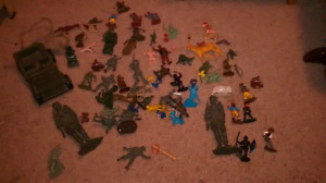 Toy soldiers and miscellaneous