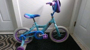 "14"" huffy girls bike (frozen)"