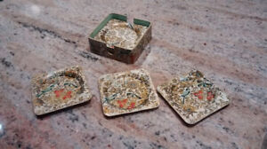 "Vintage 1950's ""Celebrate"" alcohol proof Coaster set."