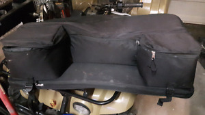 Atv rear soft seat with storage