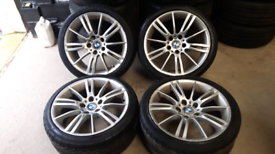 "BMW 3 SERIES 18"" MV2 style Genuine Alloys and tyres"