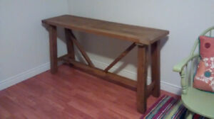 ** Rustic Table **