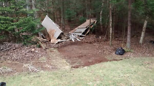 Old shed and small deck torn down, free wood to burn.