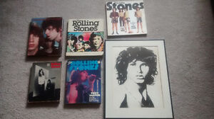 Rolling stones collection and Jim Morrison Lithopraph