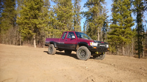 1991 toyota v6 4x4 pickup red