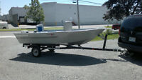 tracker gudie v 14 boat-15hp motor johnson-trailer ,