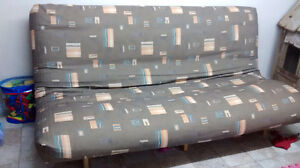 Futon with quality mattress