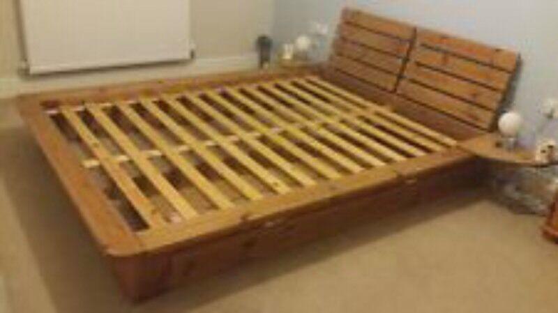Argos Nordic Kingsize Bed Solid Wood Frame In Sunbury On