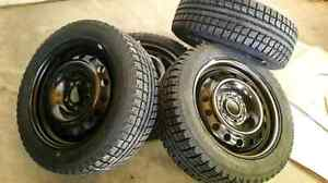 Brand new winter tires with steal rim bolt 5×4.5