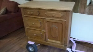 Antique tool box and wash stand.