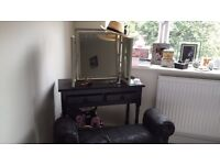 Beautiful dressing table mirror and stool