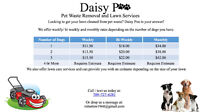 Daisy Poo Lawn Services