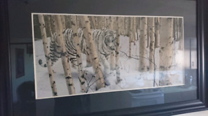 Snow tiger painting