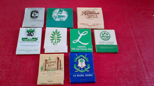 Matchbook Covers-Golf Courses