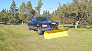 1998 GMC Sierra 1500 4x4 with 7 1/2 ft. Fisher plow