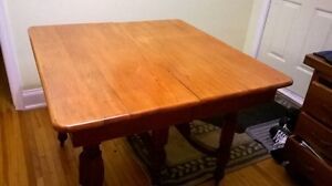 Antique dining table.