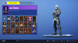 Renegade Raider and Purple Skull Trooper for cheap.