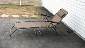**REDUCED** Folding Recliner Lounge Chair w/ Armrests & Pillow