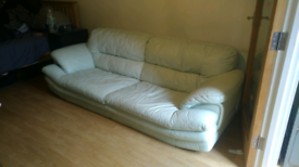 Large leather sofa free, delivery available