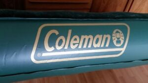 Coleman double air mattress with foot pump