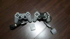 Playstation 2 controllers and Memory Cards