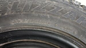 Bridgestone Blizzak WS80 winter tires on rims Regina Regina Area image 3
