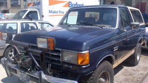 1988 Ford Bronco with Plow