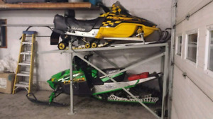 Rack de storage double pour skidoo