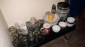 Free glasses, bowls, plates, containers
