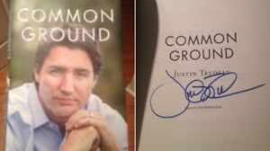 signed book by Justin Trudeau