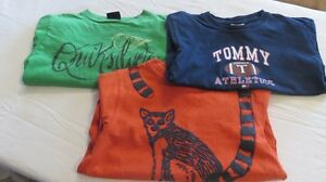 3 Boys L/S Quiksilver & Tommy Tops Size 5 Years