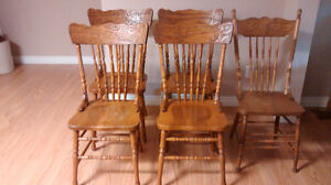5 Reproduction Press Back Chairs