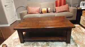 Solid Wood Coffee Table and Two Side Tables