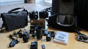 Nikon d7000 bundle - 4 lenses, flash, camera bags + Nikon d70s