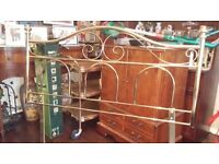 Double bed metal headboard
